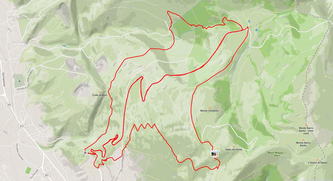 Itinerario Valsorda Gualdo Tadino Enduro MTB Umbria